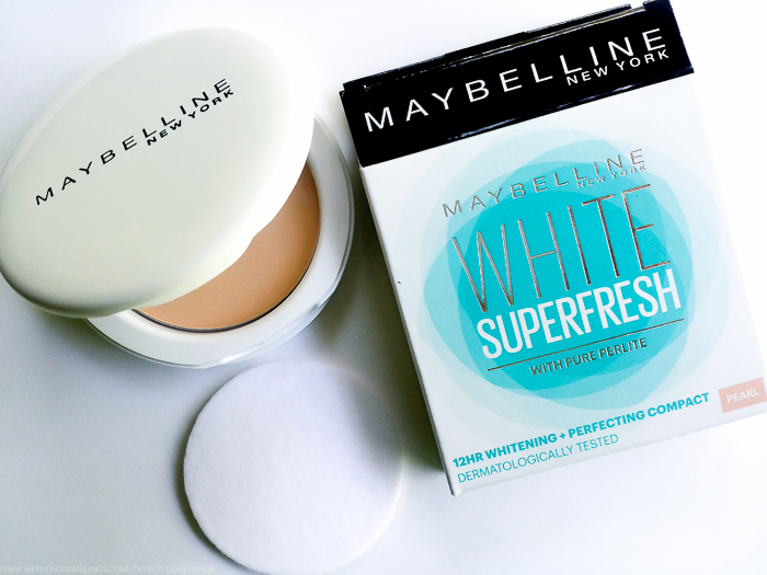 Maybelline White Superfresh Perfecting Brightening Compact with Pure Perlite - Photos Swatches Review