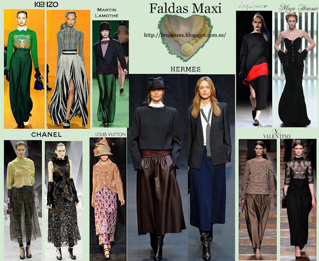 Faldas Maxi vistas en los desfiles Pret a porter de la temporada otoño invierno 2012-2013