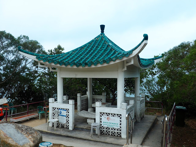 Lookout pavilion on the Family Trail walk, Lamma Island, Hong Kong