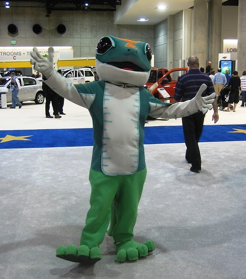 Martin the gecko mascot GEICO