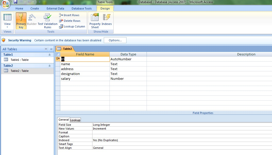 how to create database using ms Create an access database from scratch or by using a template from officecom.