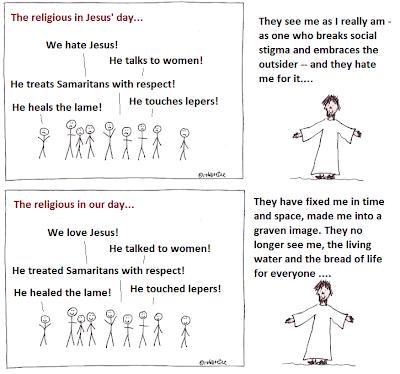 okay with jesus cartoon. by rob g