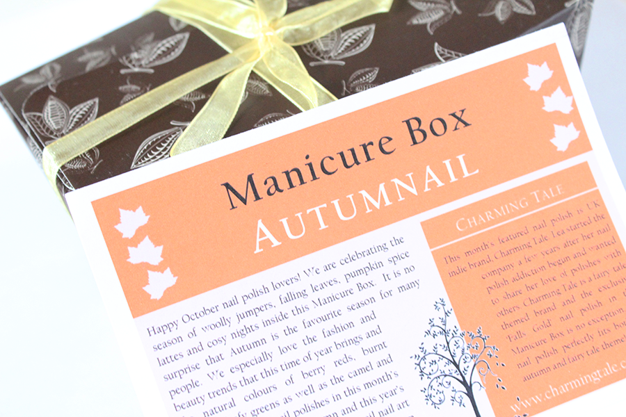 autumn manicure nail box