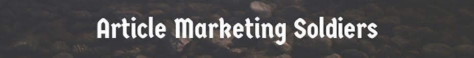 Article Marketing Soldiers