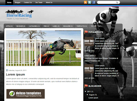 HorseRacing Blogger Theme
