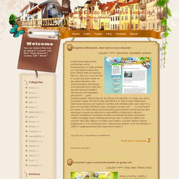 Laos Condo of Primitive Simplicity Blogger Template. beautiful background template blogger