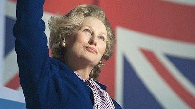 Meryl Streep interpretando a Margaret Tatcher