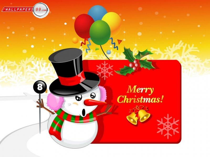 Free Images Online: Christmas cartoon wallpaper