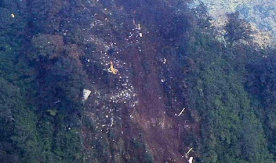Foto Lokasi Jatuhnya Pesawat Sukhoi Superjet 100 di Kaki Gunung Salak