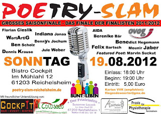Poetry Slam Saisonfinale, 19.08.2012, Bistro Cockpit, Reichelsheim