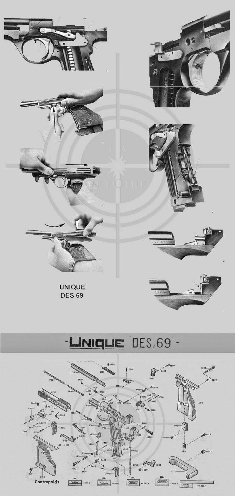 Pistola Unique DES 69 y DES 69 U   Armas de Fuego