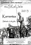 cartel de la décima euskal jaia de Karrantza