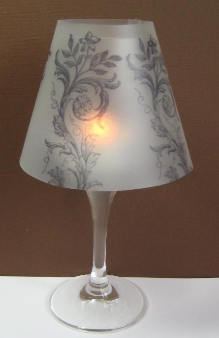 moni 39 s stempelst bchen lampenschirme f r ein weinglas. Black Bedroom Furniture Sets. Home Design Ideas
