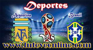Argentina vs Brasil | TuTeveOnline.com | Eliminatorias Rusia 2018
