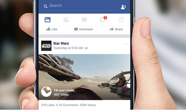 Facebook debuts 360-degree videos