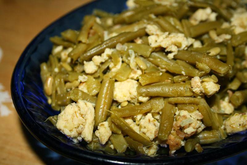 وصفة حمية بيض مخفوق مع الفاصوليا الخضراء