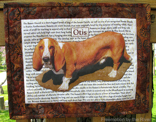 Otis the dog TAP Transfer Paper from C&T Publishing #TAPProject