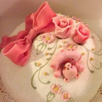 Babyshower-tårta