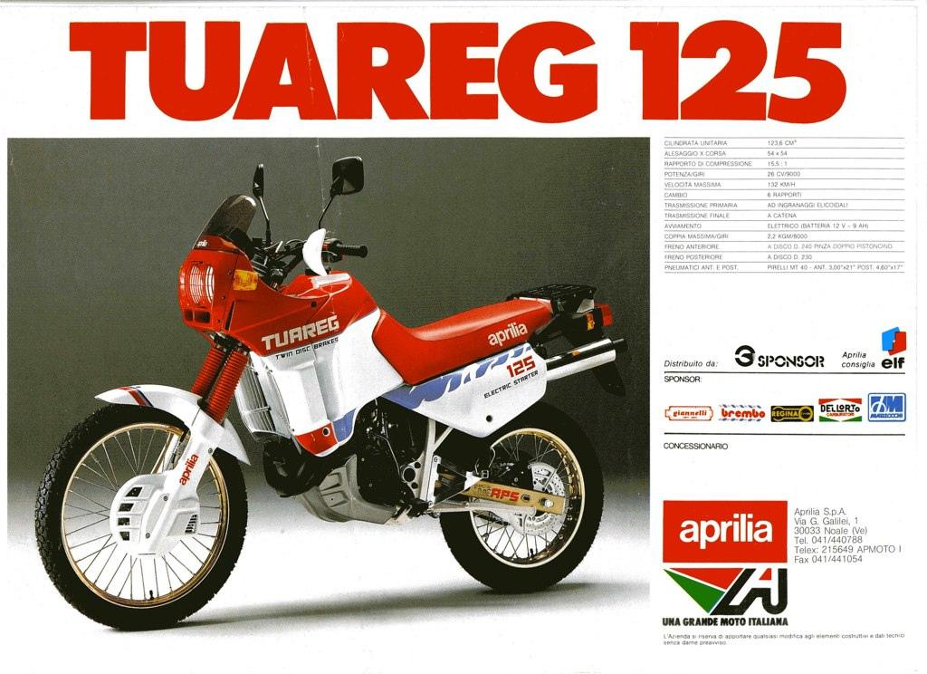Racing Caf U00e8  Vintage Brochures  Aprilia Tuareg 125 1987