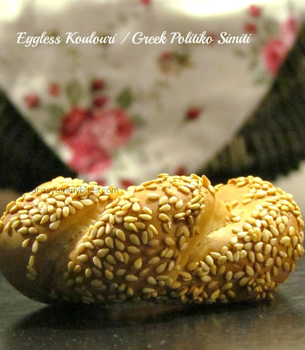 Eggless Koulouri / Greek Politiko Simiti