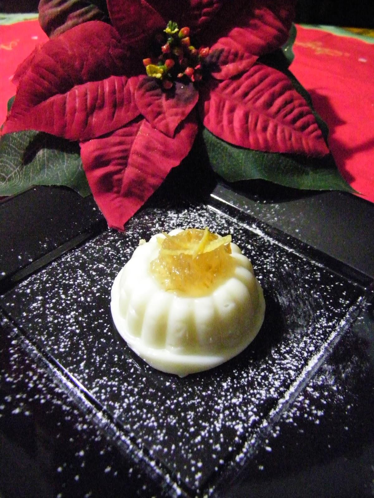 bianco mangiare con marmellata di limoni ,ricetta sarda