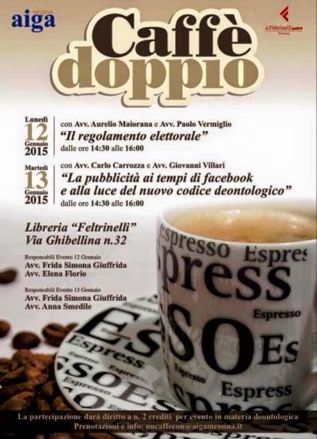 CAFFE' DOPPIO AL FELTRINELLI POINT CON I GIOVANI AVVOCATI