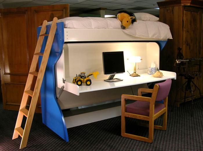 spacesaving kids beds by the slow life great way to add space to