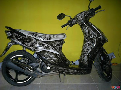 mio airbrush modifikasi