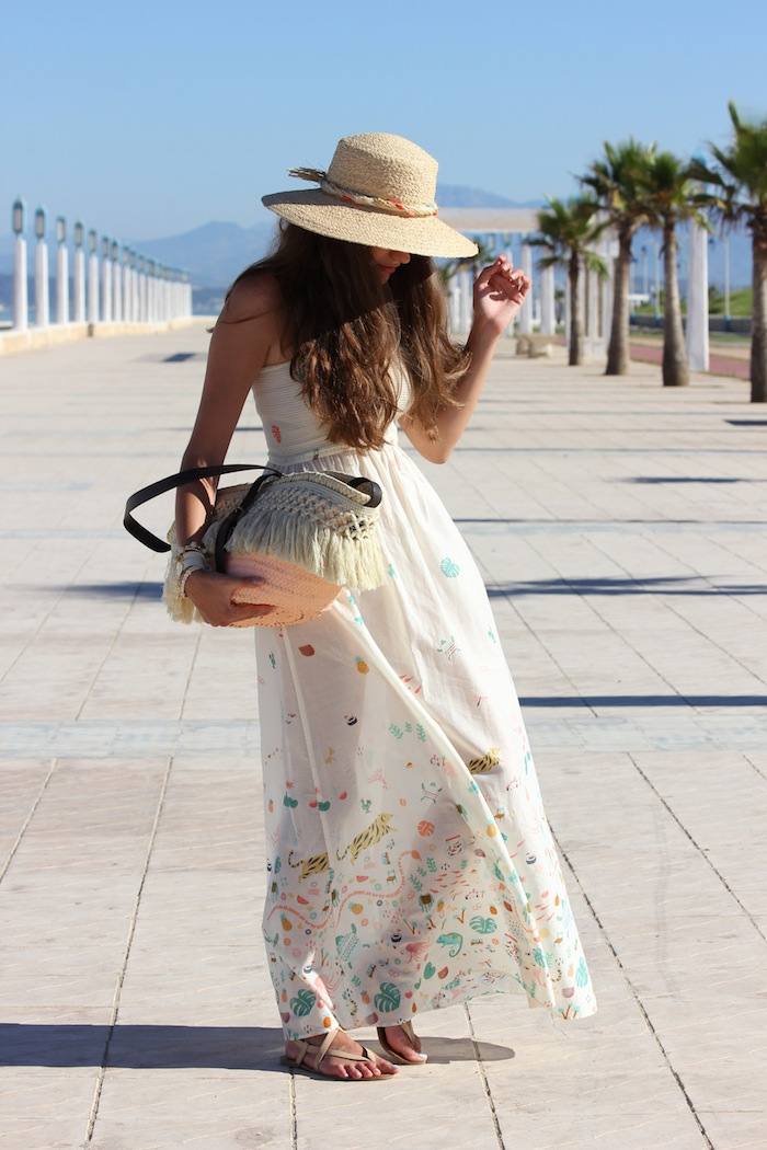 vestido_dress_largo_oysho_estampado_capazo_diy_bolso_sombrero_verano_angicupcakes04