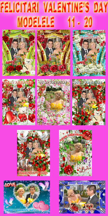 Felicitari Valentine's Day - Modelele 11 - 20