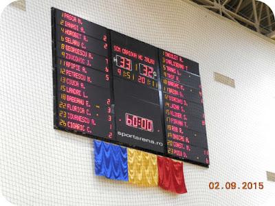 scor final Craiova 33 - Zalau 32