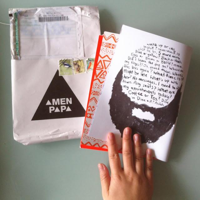 amenpapa package lookbook with hong kong stamps