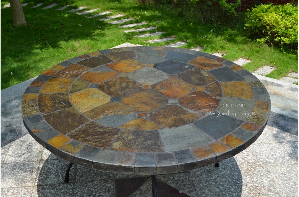 OCEANE Slate Outdoor Patio Table