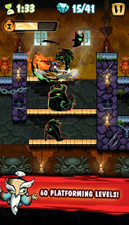 Screenshots of the Release the Ninja for Android tablet, phone.