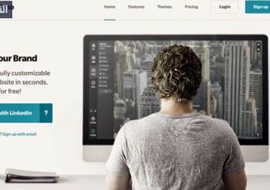 طريقة إنشاء موقع مجاني باستخدام حساب LinkedIn