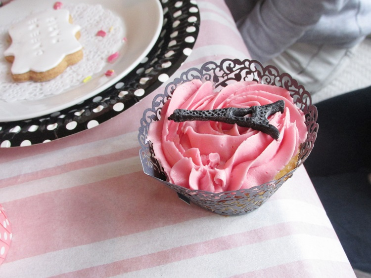 French party food at cafe de paris - eiffel tower cupcake