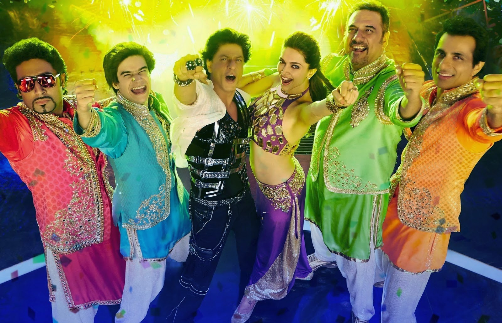 Movie happy new year 2014 poster (Actor and Actress Hd Wallpaper)