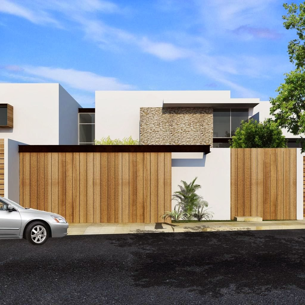 Fachada de casa estilo minimalista casa moderna