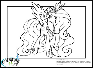 2013 princess celestia coloring pages