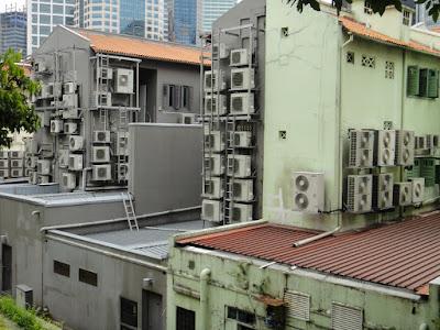 Shophouses in Telok Ayer Street Singapore