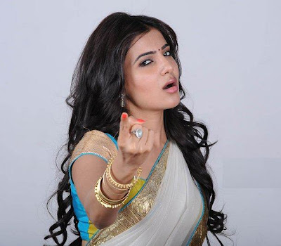 hot sexy rosy wonderful Samantha sexy in transparent half saree magazine