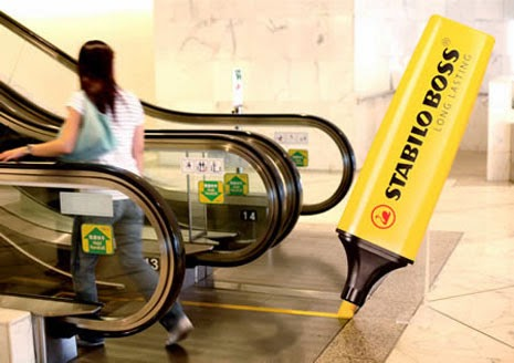advertising in escalators stabilo