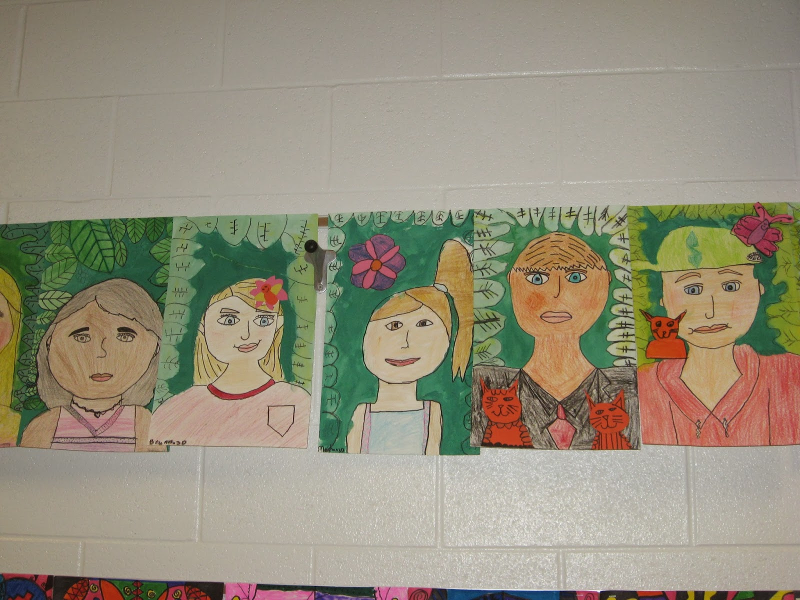 Jamestown Elementary Art Blog 3rd Grade Frida Kahlo Self Portraits