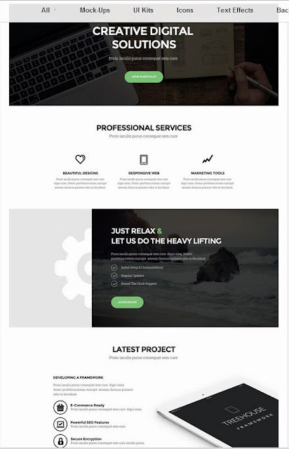 Les Ressources Web du Lundi by Iscomigoo Webdesign: Treehous, template site internet