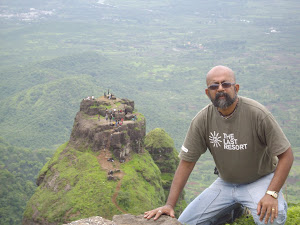 On the Edge of the peak of Prabalgad Fort.