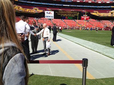 Meeting GM Bruce Allen on FedEx Field before kickoff