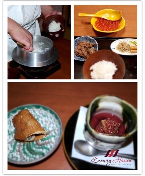 akasaka kitafuku tarabagani dinner menu salmon roe