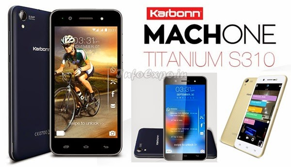 Karbonn Machone Titanium S310: 4.7 inch HD,.3 GHz Quad Core Android Phone Specs