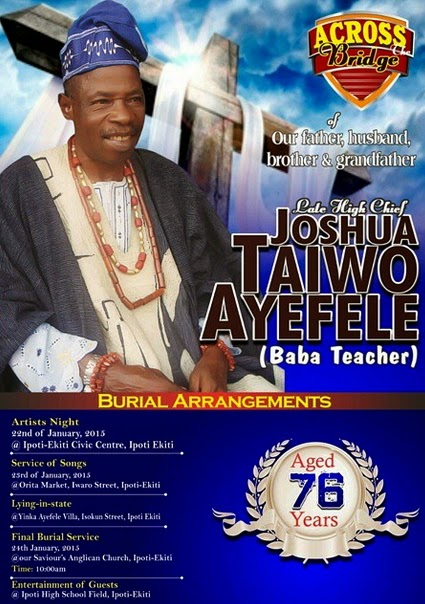 yinka ayefele father burial