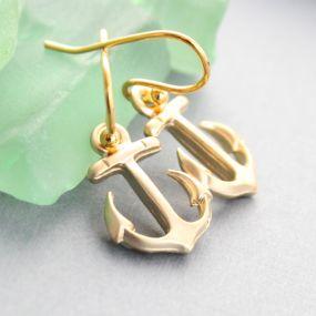 Gold Anchor Earrings3